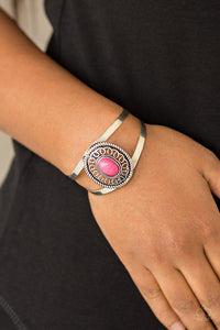 Paparazzi Deep In The TUMBLEWEEDS - Pink Bracelet New