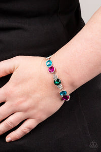 Paparazzi Care To Make A Wager? - Multi Colored Gems Bracelet
