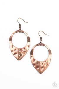 Instinctively Industrial - Copper Earrings Paparazzi Accessories New