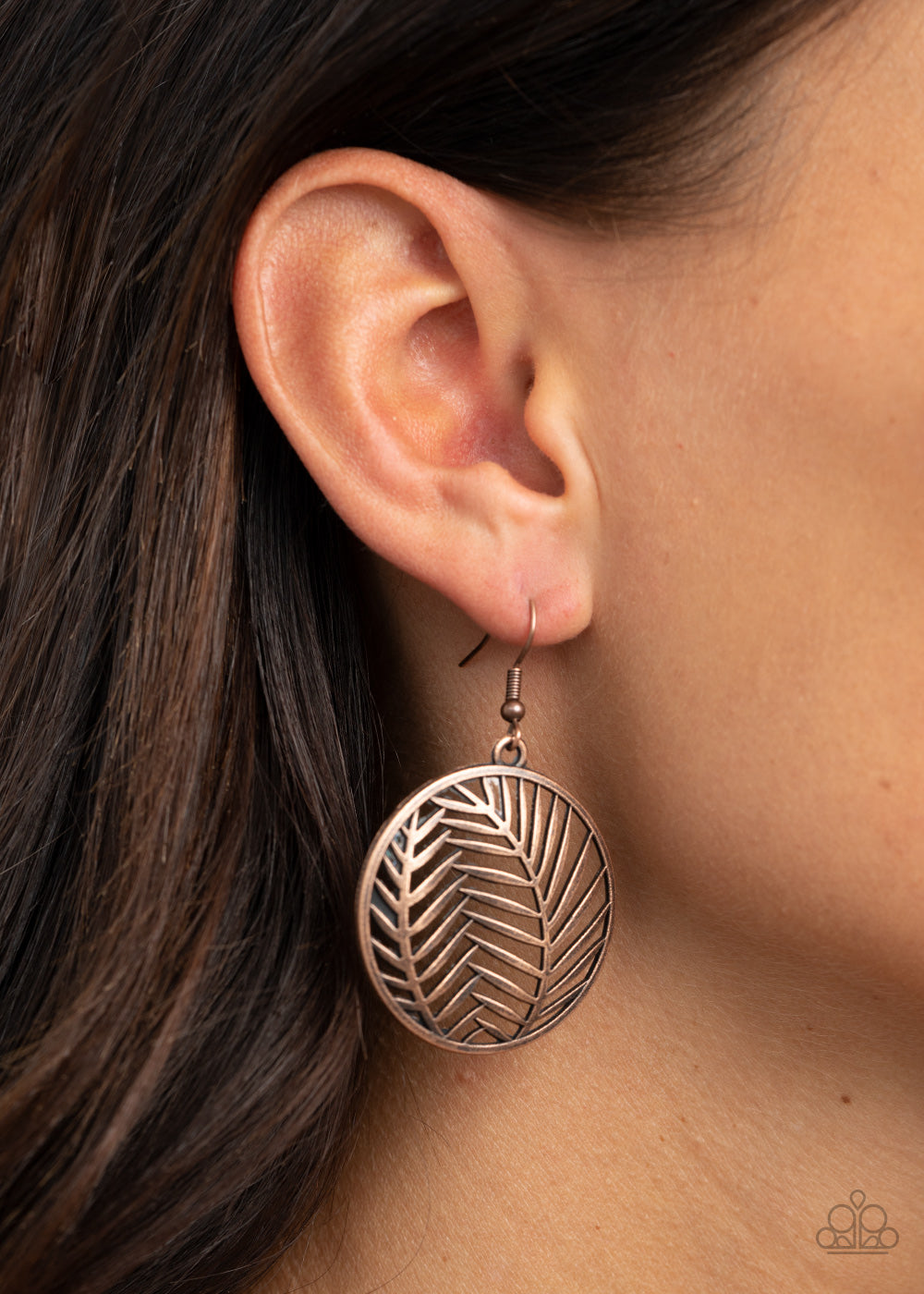 Paparazzi Palm Perfection - Copper Earrings New