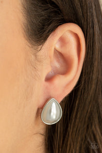 SHEER Enough - White Post Earrings Paparazzi Accessories New