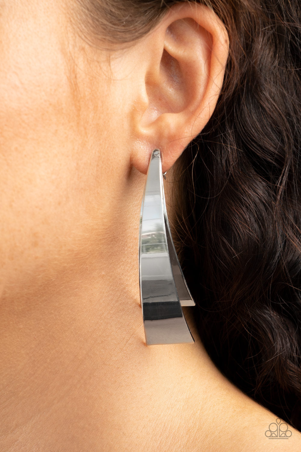 Underestimated Edge - Silver Earrings Paparazzi Accessories New
