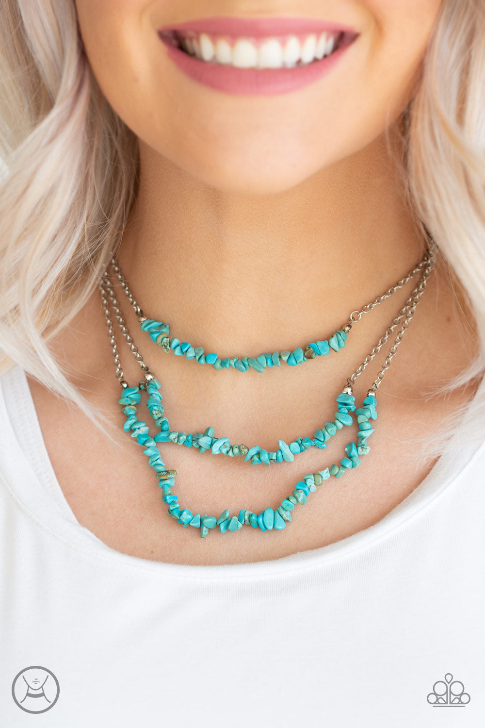 Eco Goddess Blue Choker Necklace