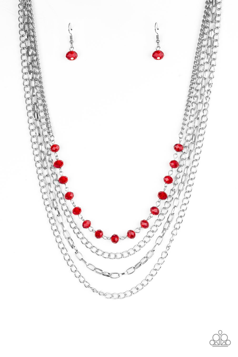 Paparazzi Extravagant Elegance Red Necklace