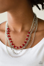 Load image into Gallery viewer, Paparazzi Extravagant Elegance Red Necklace