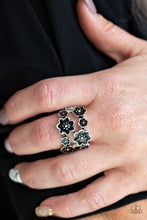 Load image into Gallery viewer, Paparazzi Floral Crowns Black Ring