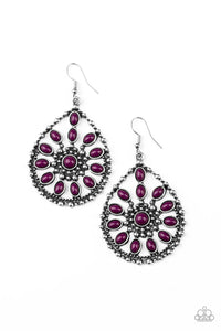 Free To Roam - Purple Earrings Paparazzi New
