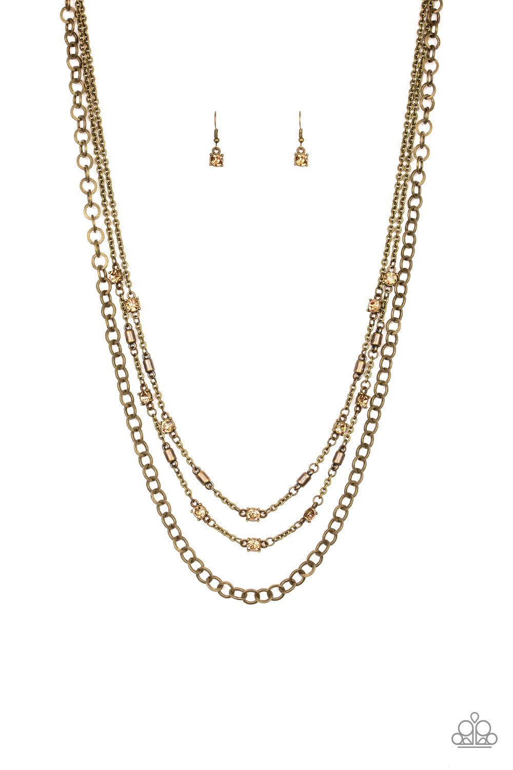 Metro Mixer Brass Necklace