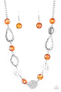 High Fashion Fashionista - Orange Necklace Paparazzi Accessories New