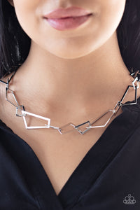 Shattering Records Silver Necklace