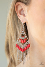 Load image into Gallery viewer, Paparazzi Trending Transcendence - Red Earrings