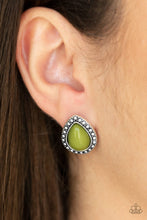 Load image into Gallery viewer, Paparazzi Boldly Beaded - Green Post Earrings