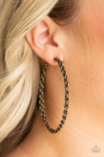 Load image into Gallery viewer, Paparazzi CHAINge is Coming Brass Hoop Earrings