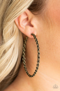 Paparazzi CHAINge is Coming Brass Hoop Earrings