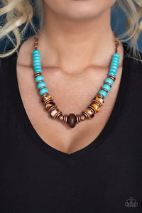 Paparazzi Desert Tranquility - Copper Necklace New