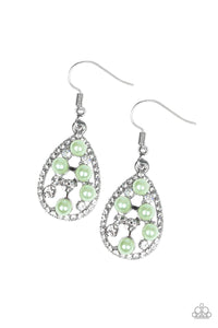 Paparazzi Fabulously Wealthy Green Earrings