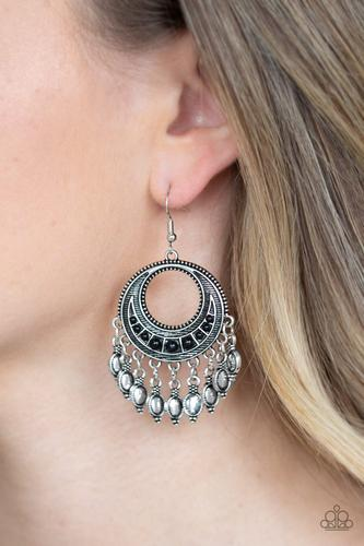 Paparazzi Desert Divinity - Black Earrings