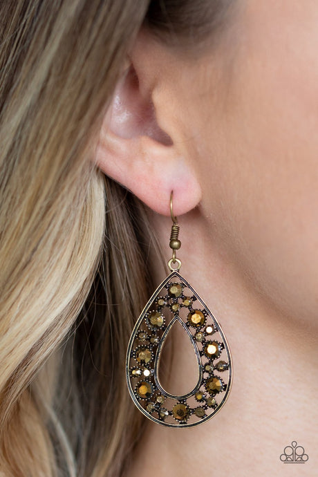 Midnight Magic - Copper Earrings - Paparazzi Accessories New