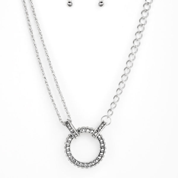 Razzel Dazzel Silver Necklace
