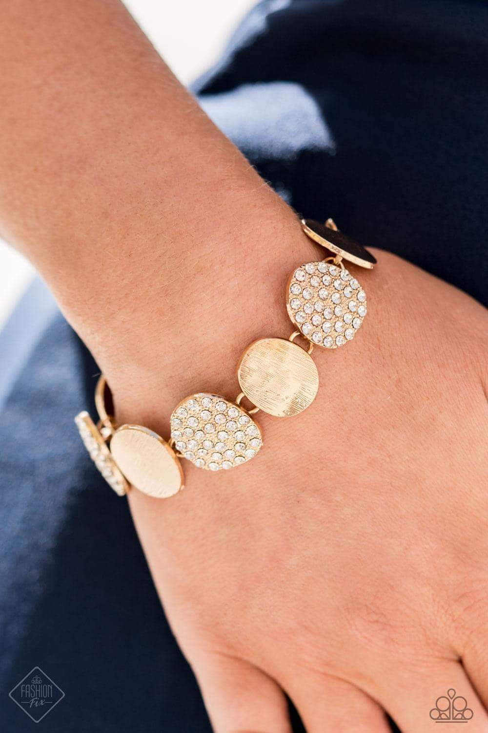 Tough LUXE - Gold Bracelet - Paparazzi Accessories