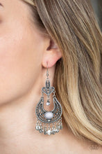 Load image into Gallery viewer, Paparazzi Fiesta Flair Silver Earrings