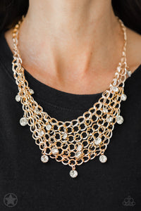 Fishing for Compliments- Gold Necklace Blockbuster