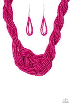 Load image into Gallery viewer, Paparazzi A Standing Ovation Pink Seed Bead Necklace
