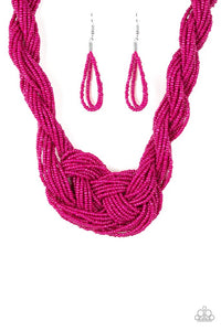 Paparazzi A Standing Ovation Pink Seed Bead Necklace