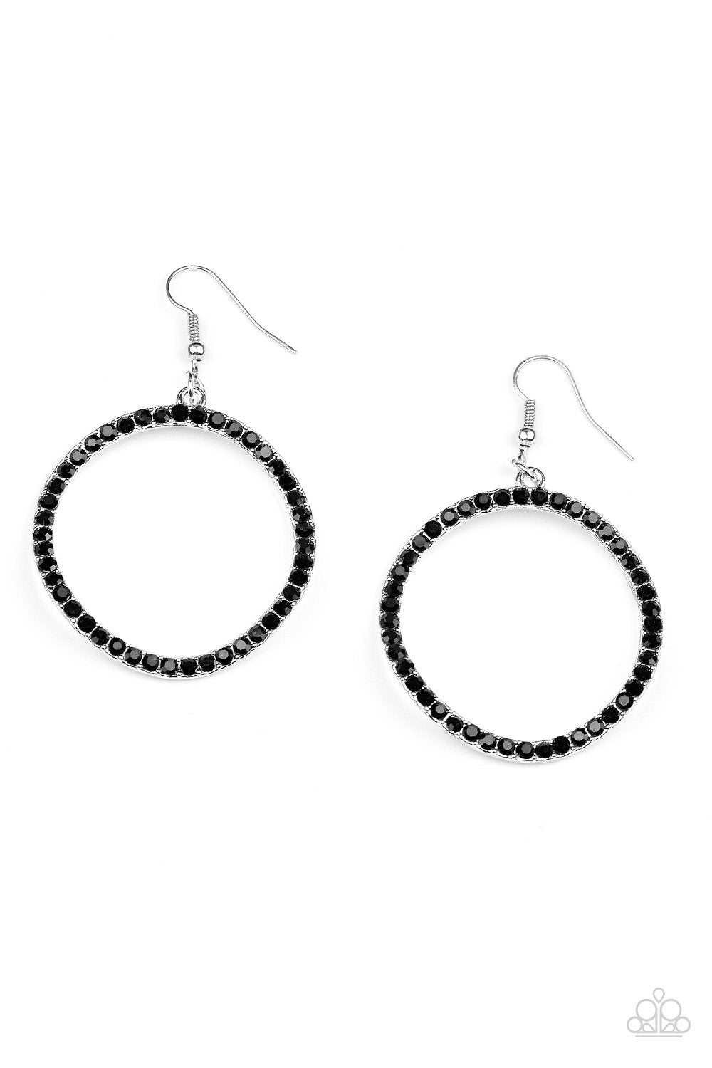 Stopping Traffic Black Earrings