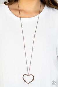 Paparazzi Straight from the Heart Copper Necklace