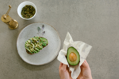 Avocado Toast | Abeego Reusable beeswax wrap that breathes