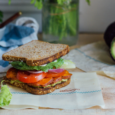 Creamy, Savory and Sweet  |  Summer Veggie Sandwich