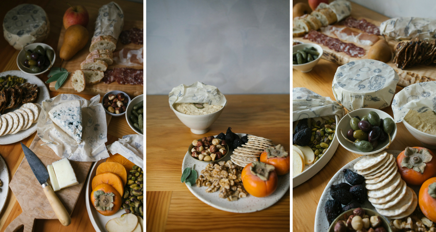 Building the perfect meat and cheese board with Abeego Beeswax food wrap