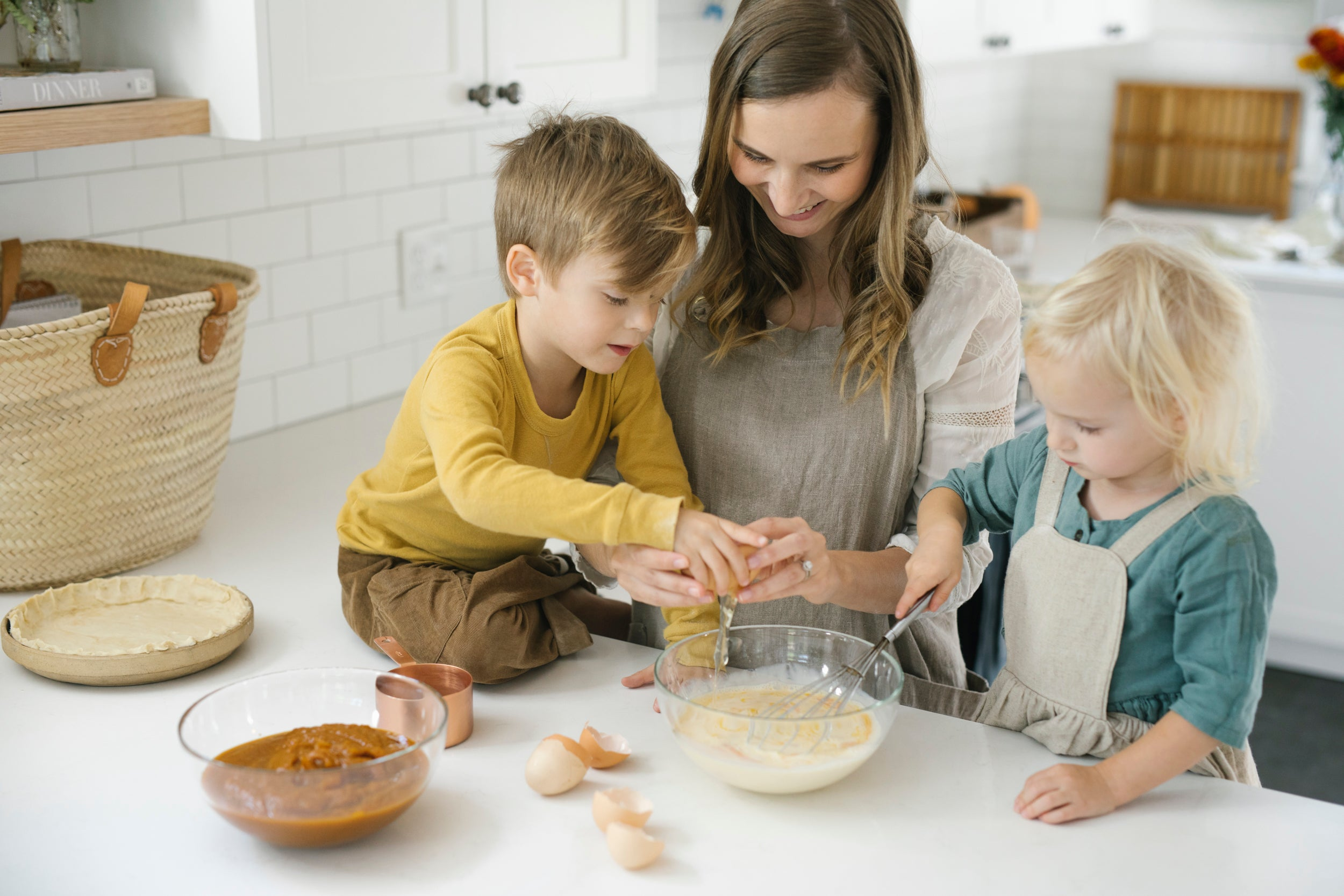 Use Abeego beeswax food wrap to reduce mess when baking with kids