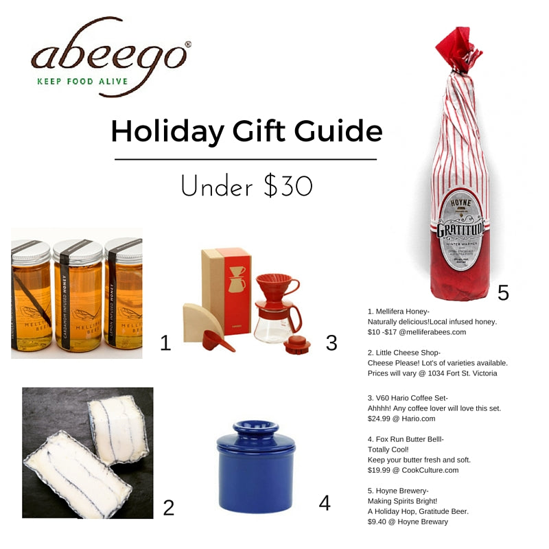 Abeego's Holiday Gift Guide Under $30