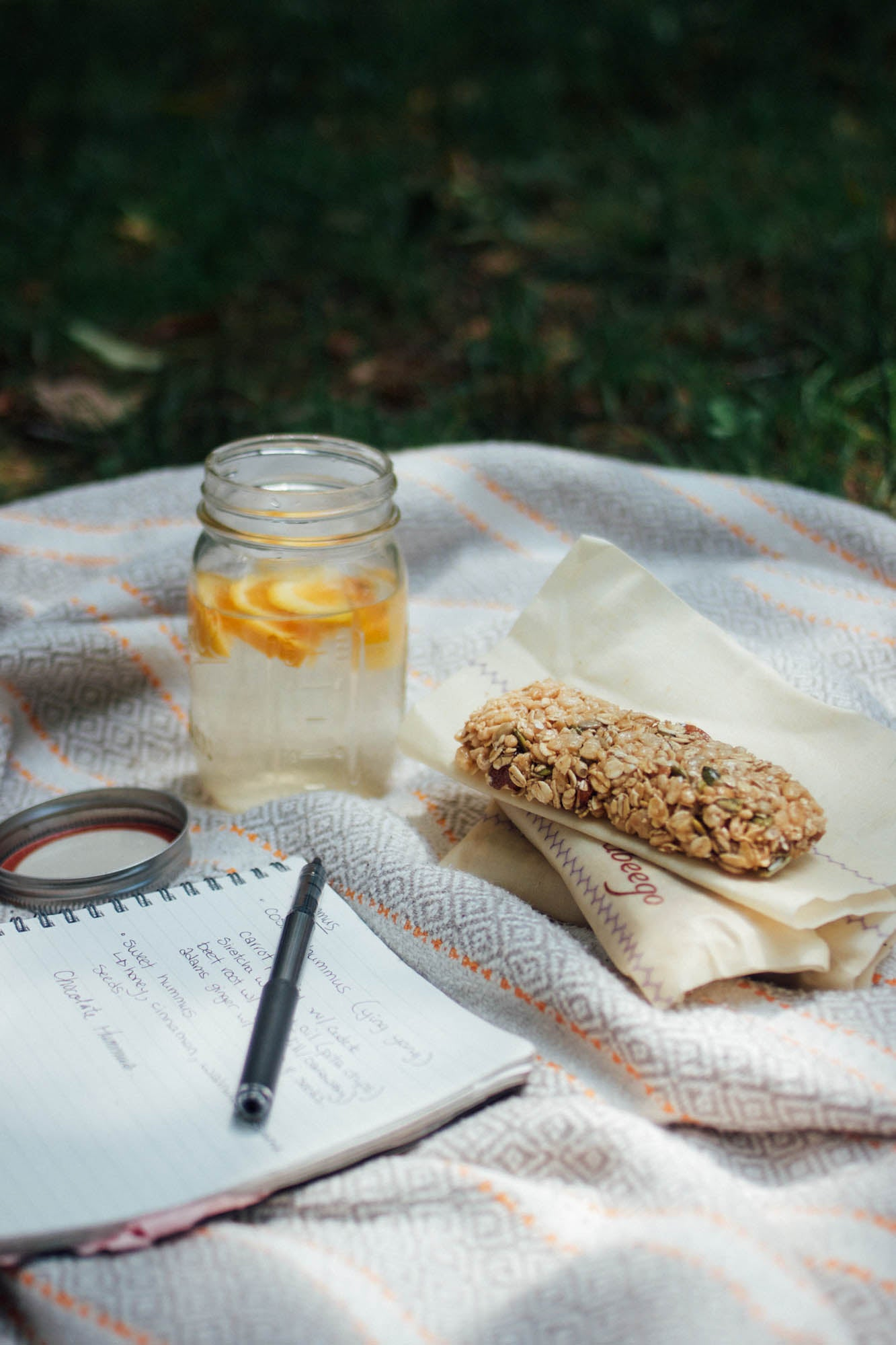 easy, portable, nutritious granola bars wrapped with Abeego