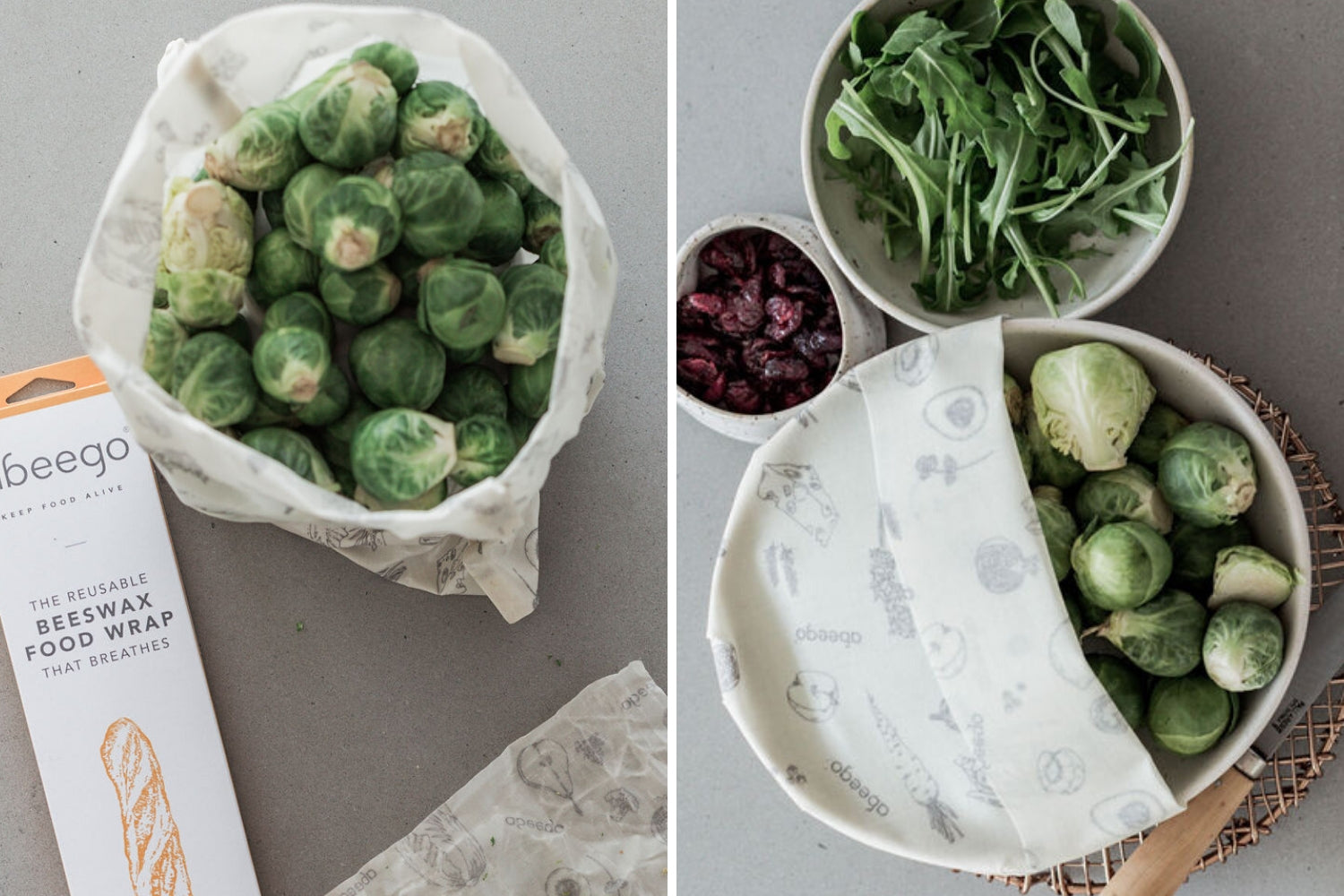 How to wrap Brussels sprouts to keep them fresher longer | reusable beeswax food wrap