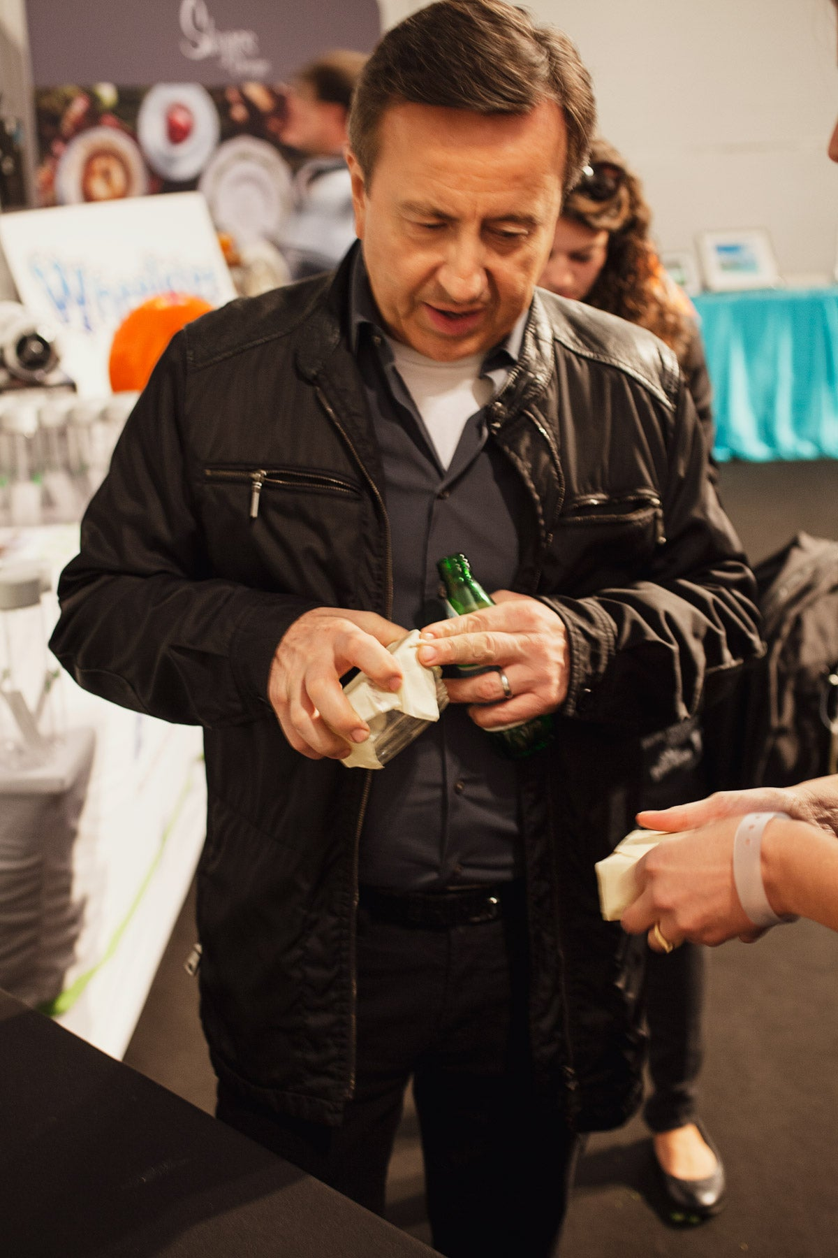 Daniel Boulud with Abeego at New York Food and Wine Festival