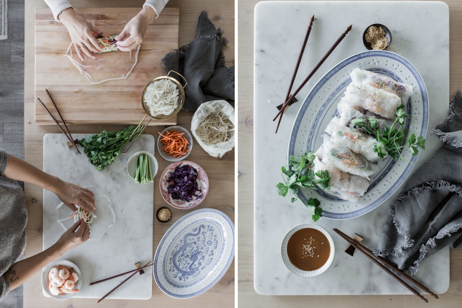 Vietnamese Spring Rolls with Abeego Beeswax Food Wrap