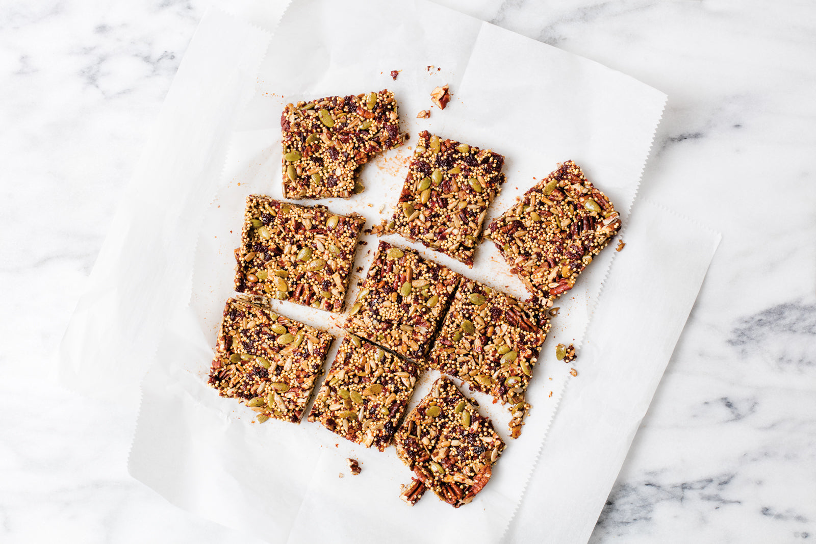 Cherry millet bars recipe from rocket fuel