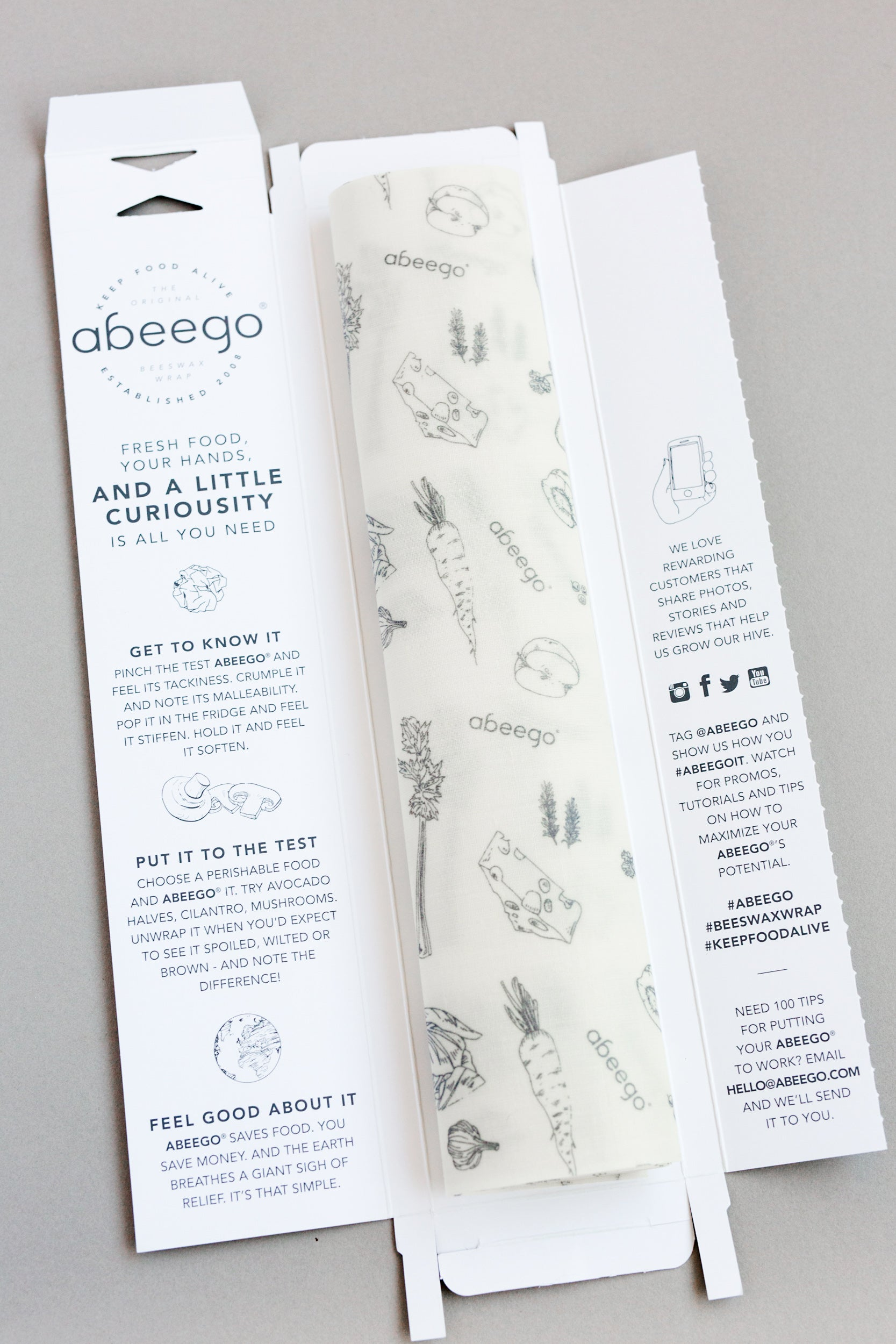 inside abeego packaging