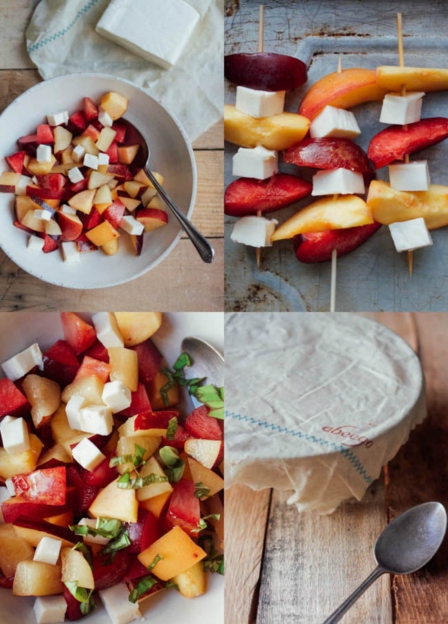 gingered stone fruit salad with a well loved Abeego