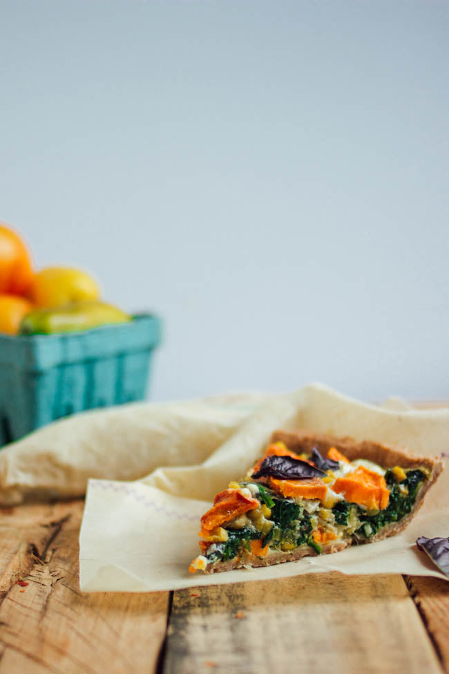 abeego beeswax wrap vegetable pie