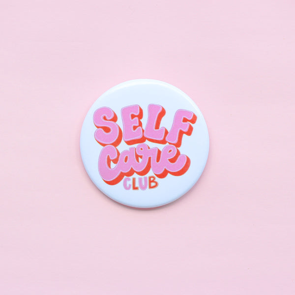 SELF CARE CLUB ROUND PIN