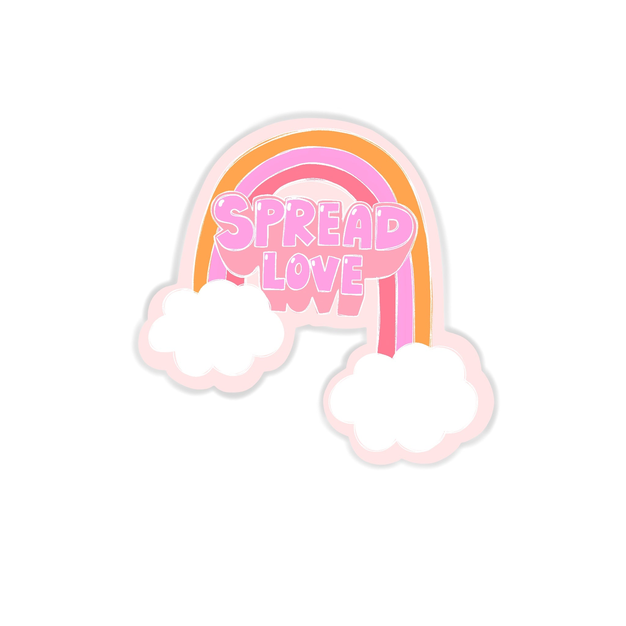 SPREAD LOVE RAINBOW STICKER