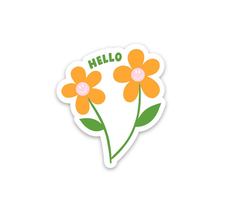 HELLO FLOWERS STICKER