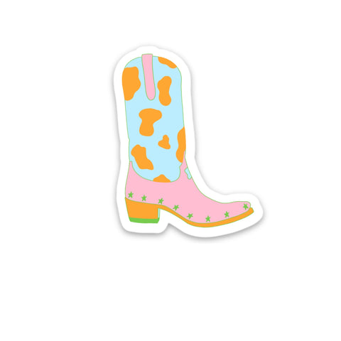 COWGIRL BOOT STICKER
