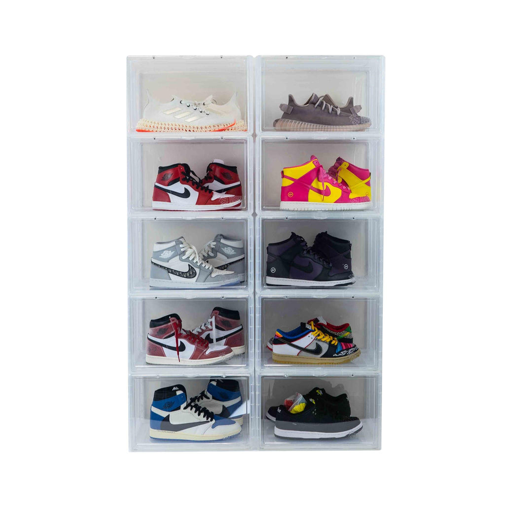 Premium Sneaker Storage Containers Drop Side