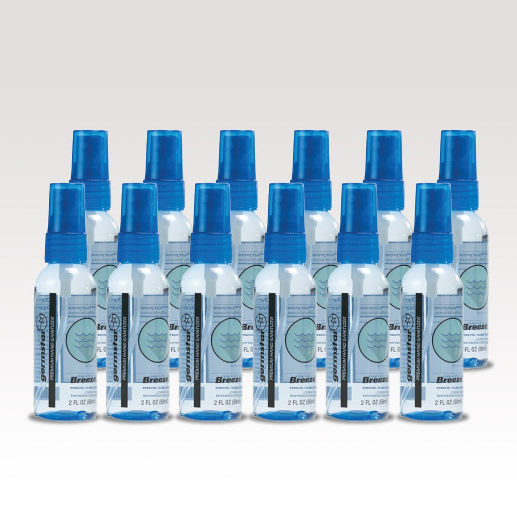 2oz Germstar® Spray Bottles, 12 Bottle/BREEZE