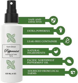 Peppermint Essential Oil Bathroom Toilet Spray